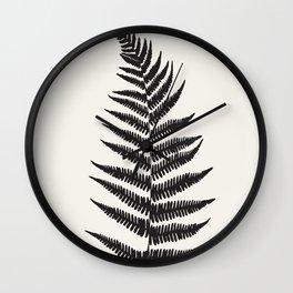 Minimal Fern Leaf Wall Clock