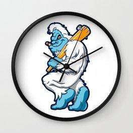 Baseball sasquatch Wall Clock