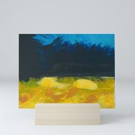 Yellow, Black, & Blues Mini Art Print