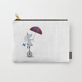 Mouse on unicycle Carry-All Pouch