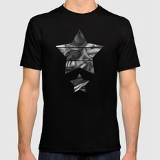 abstract techXpressionism No. 2 MEDIUM Black Mens Fitted Tee