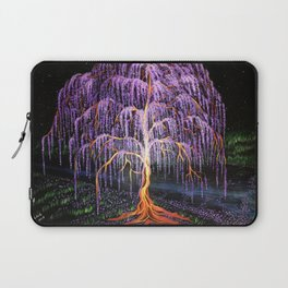 Electric Wisteria Willow Tree Laptop Sleeve