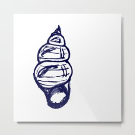 Seashell Sketch Metal Print