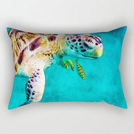Observer of the Sea Rectangular Pillow