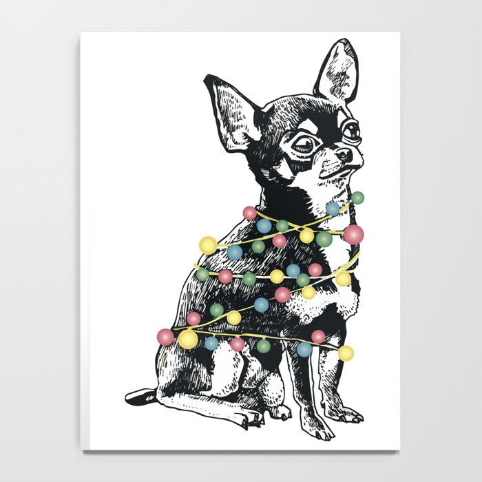 Chihuahua dog with colorful festoon Notebook