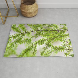 Evergreen Abstract Rug