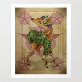 Bohemian Beasts: Deer Art Print