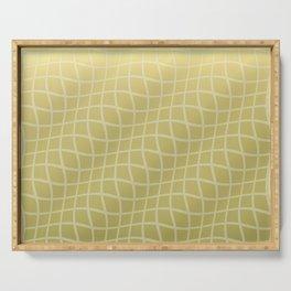 Gold Ripple Grid Pattern Serving Tray