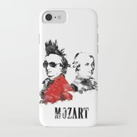 mozart iPhone & iPod Cases featuring Mozart Punk by viva la revolucion