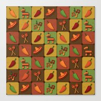 mexican Canvas Prints featuring Mexican Squares by Matt Andrews