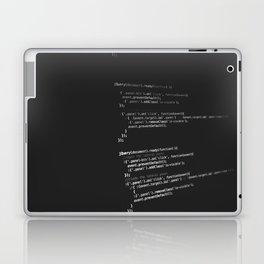 BLACK - WHITE - PROGRAMMING - CODE - TECH Laptop & iPad Skin