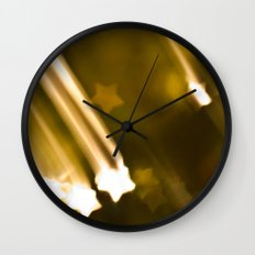 Bokeh of Stars Wall Clock