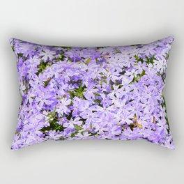 Purple Flowers | Lavender Flox | Pantone Purple | Spring Floral Rectangular Pillow