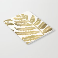Golden Fern Leaf Notebook