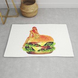 Pin Up Burger Meal Rug