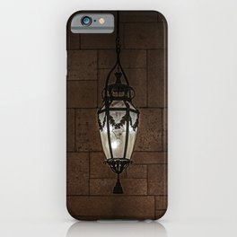 Hanging Lamp in a Dark Stone Chamber iPhone Case