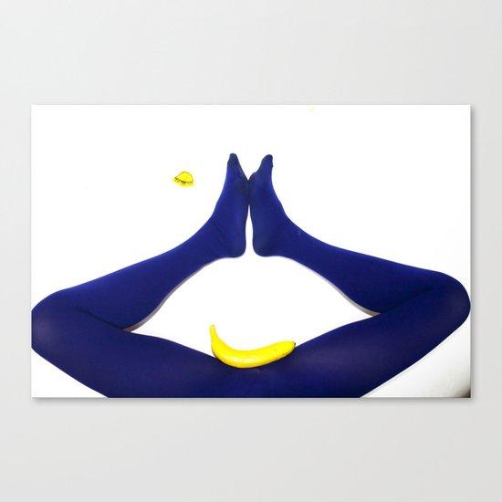 Dentro ogni bocca c'è un abisso. Blu Canvas Print