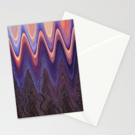 Sunset Trees in Abstract Stationery Cards