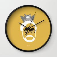 hayao miyazaki Wall Clocks featuring Miyazaki, 1941 by Jarvis Glasses