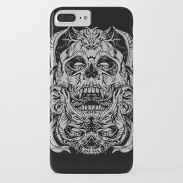 2 FACES SKULL iPhone Case