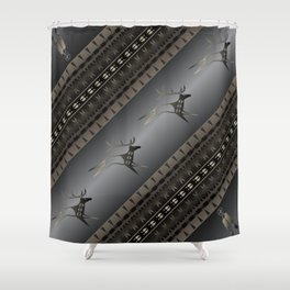 Elk Spirit (Gray) Shower Curtain