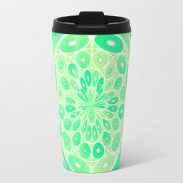 Kiwi green geometric Travel Mug