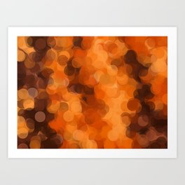 brown yellow and dark brown circle abstract background Art Print