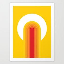 Desert Blaze Art Print