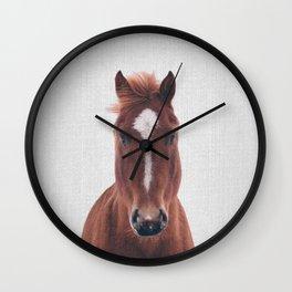 Horse II - Colorful Wall Clock