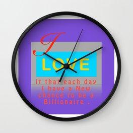 I Love It Purple Wall Clock