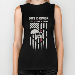 bus driver live love drive car heart driver america country bus driver Biker Tank