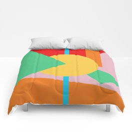 Circle Series - Summer Palette No. 4 Comforters