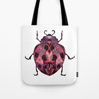 ladybug Tote Bags featuring Ladybug by SilviaGancheva