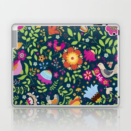 FLOWERS AND BIRDS Laptop & iPad Skin