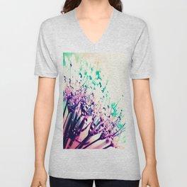 Pastel Dew Drop Flowers Unisex V-Neck