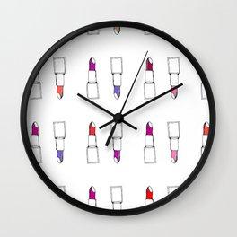 lipstick Pattern Wall Clock