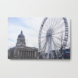 Wheel of Nottingham Metal Print