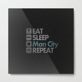 Man City Activity Metal Print