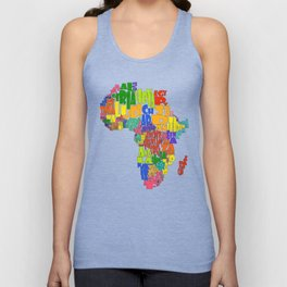 African Continent Cloud Map Unisex Tank Top