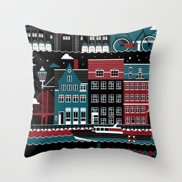 Copenhagen Throw Pillow