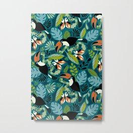 Toucan Tropics Metal Print