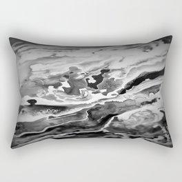 Deep Sea Black Focus Marble Rectangular Pillow