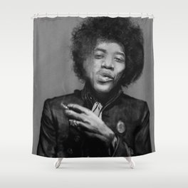 Chilling Hendrix Shower Curtain