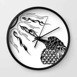 The Raven's Sun Wall Clock