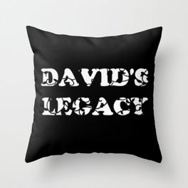 David's Legacy Scattered Leaves (Inverted) Throw Pillow