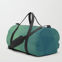 Blue/Green Triangle Gradient Pattern Duffle Bag