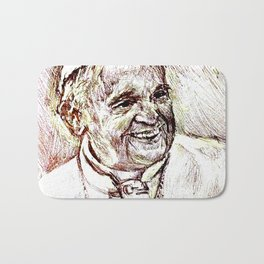 POPE FRANCIS Bath Mat