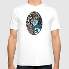 Wild West Mens Fitted Tee White SMALL