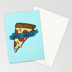 Life is a Pizza Party Stationery Cards