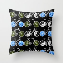 Cycling for Equality Throw Pillow